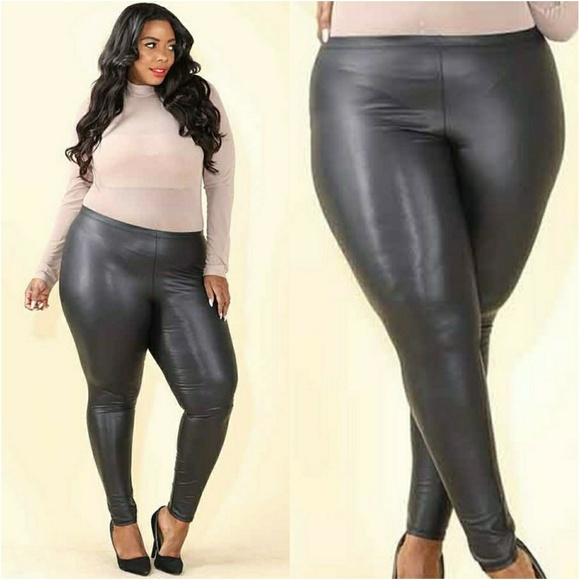 Plus size latex leggings, how do porn starts stretch pussy